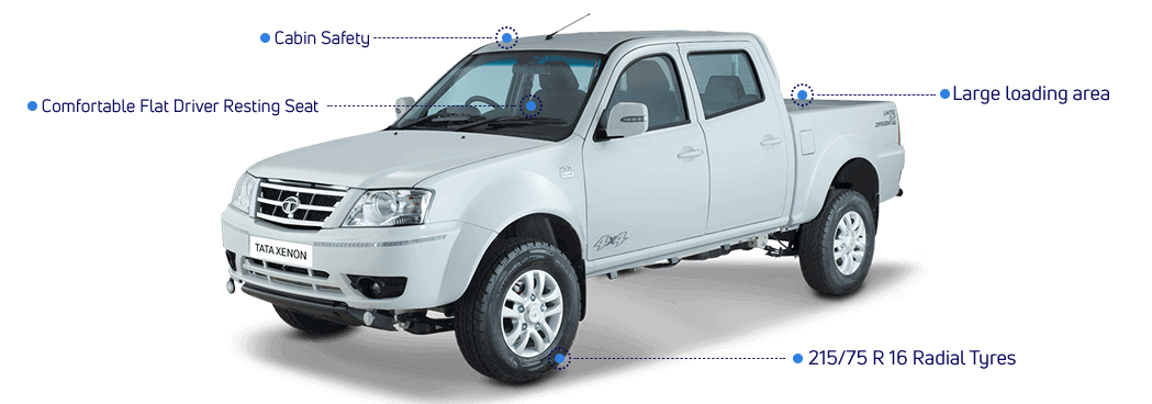 टाटा ज़ेनॉन क्रू केबिन पिकअप ट्रक के फीचर्स
