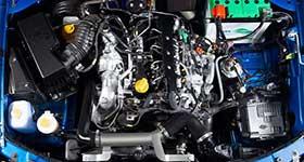 Tata Yodha engine compartment