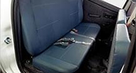 Tata Yodha rear flat lay down seats