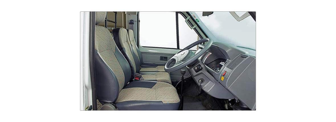 Tata Winger driver compartment