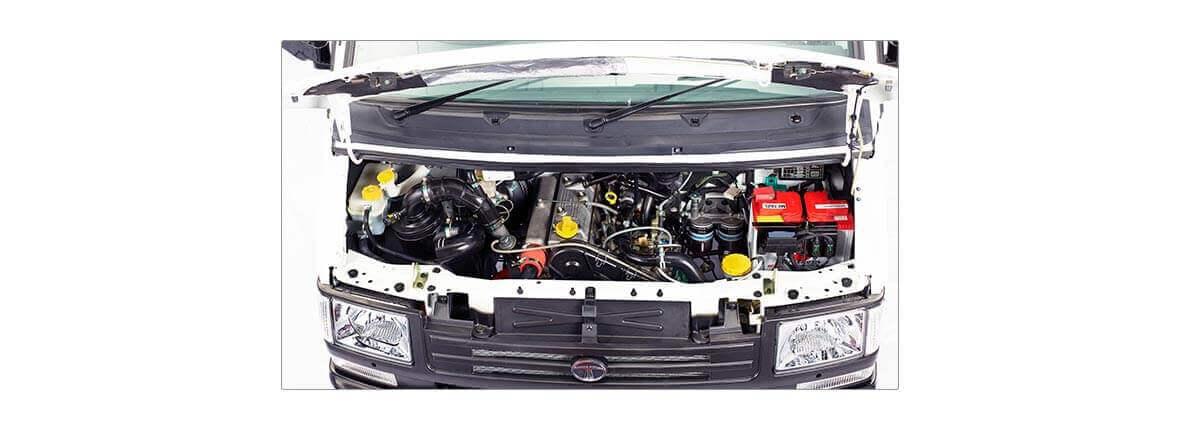 Tata Winger engine compartment