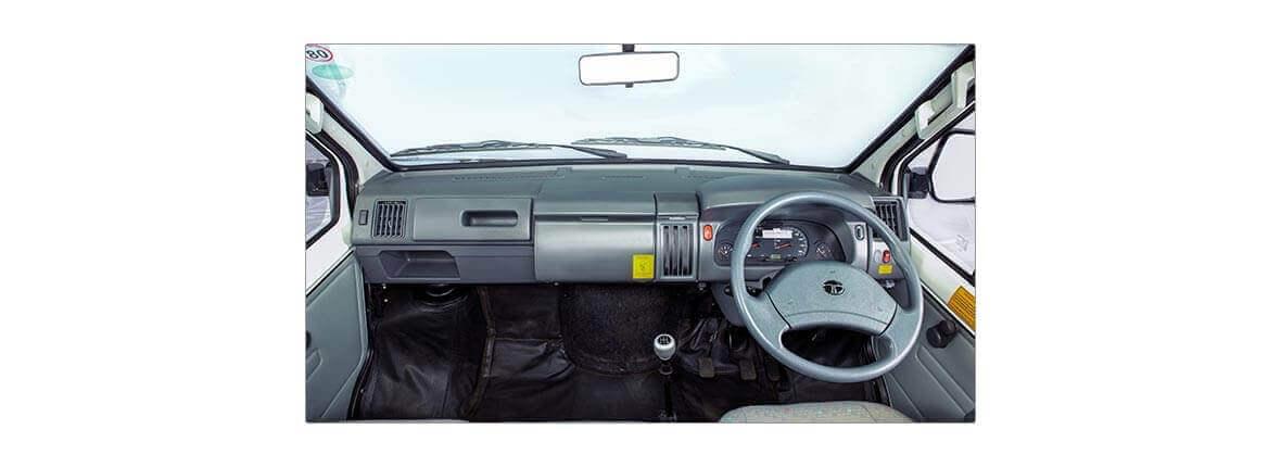 Tata Winger interior dashboard