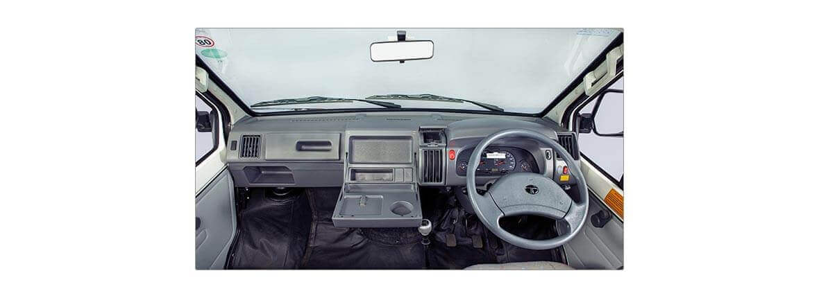 Tata winger interior utility space large