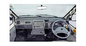 Tata Winger interior utility space