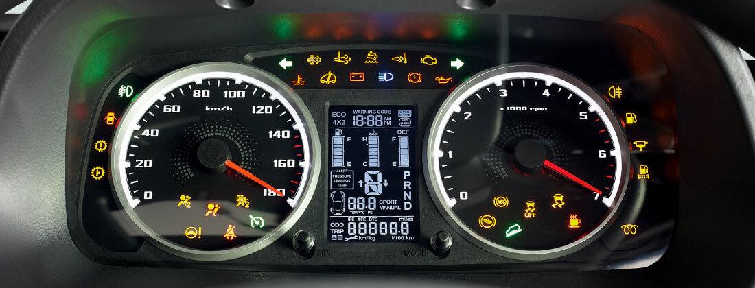 Tata Yodha speedometer